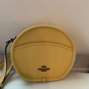 Coach Canteen Bag Sunflower Yellow New